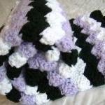 Crochet Purple Baby Blanket, white,..